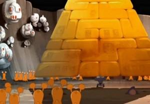 Kerubim soulève la pyramide du Général Glumosor
