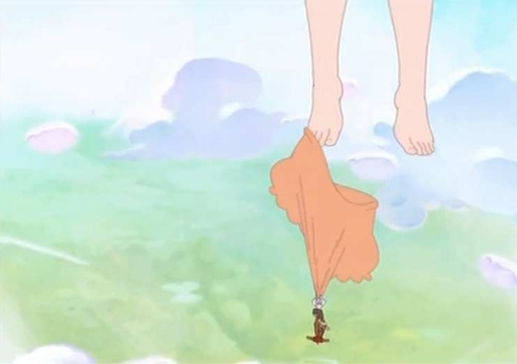 Kerubim s'accroche à la culotte de Gulivette