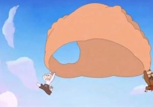 La culotte de Gullivette sert de parachute