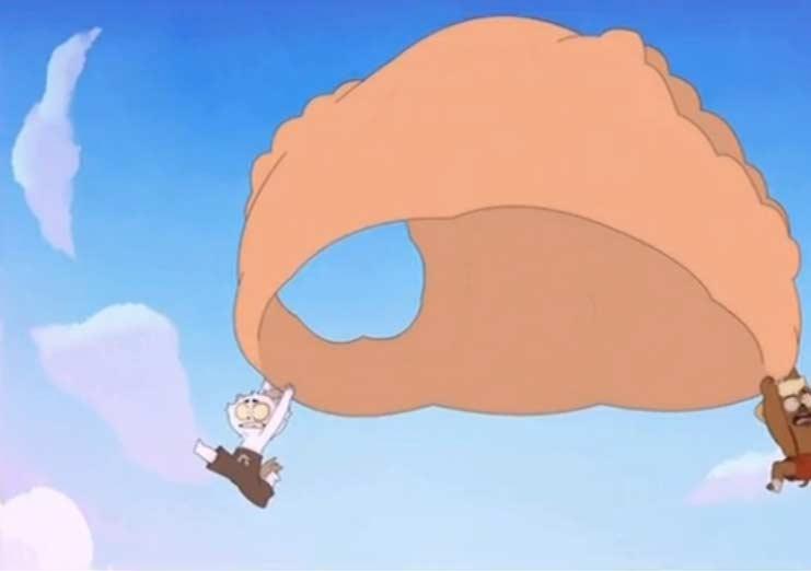 La culotte de Gullivette sert de parachutte