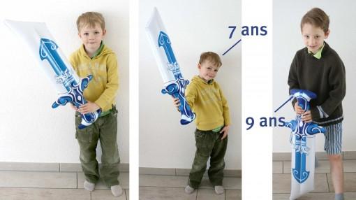 l'épée gonflable Dofus peut aussi être manipulée par des enfants
