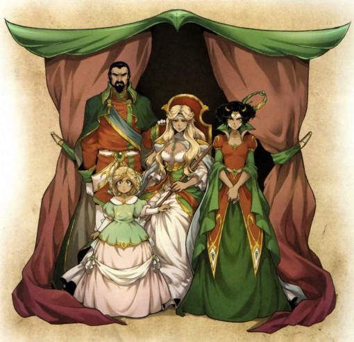 Adeyrid enfant, son père, sa mère et sa soeur (Invidia)