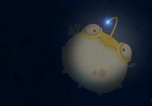 Le monstre imite les mouvements de Kerubim et des poissons de son ventre