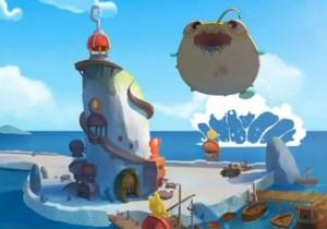 Le monstre saute sur Port à la mouche,