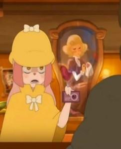 Derrière Lou, il y a un tableau d'Hélène l'ex de Bash