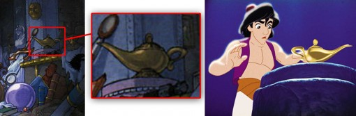 lampe à huile d'Aladdin
