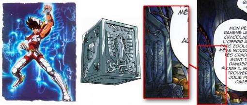 Caisson de l'armure de Pégase dans la série les Chevaliers du Zodiaque