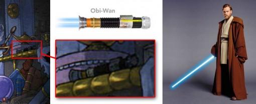 sabre laser d'Obi Wan Kenobi tiré de Star Wars