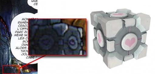 cube de voyage tiré du jeu Portal 2