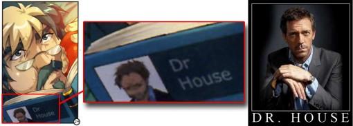 Vangelis lit un livre dont l'auteur n'est autre que Docteur House