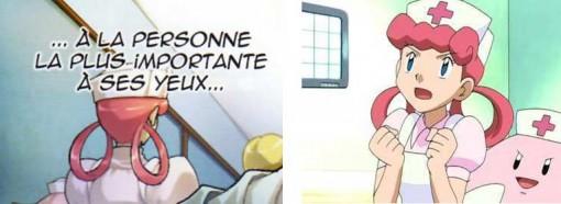 l'infirmière Joëlle tirée de la série Pokemon