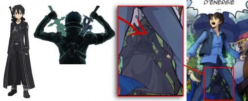 Kirito du jeu Sword Art Online