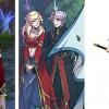 Allenia de World of Warcraft et Dilandau Albatou tiré de l'anime Vision d'Escaflowne
