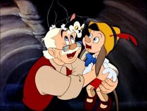 Pinocchio et Geppetto (dans la baleine)