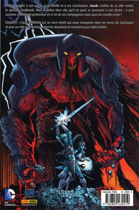 Quatrième de couverture (Diablo 3 : L'épée de Justice)