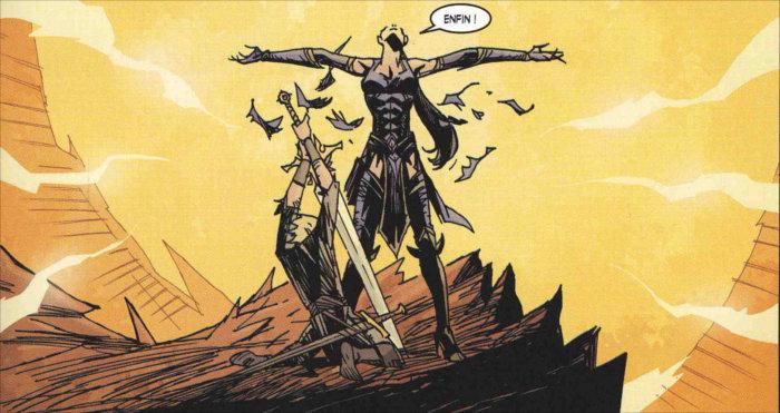 Jacob prend l'épée de Justice, l'arme de Tyraël, qui était protégée par Shanar