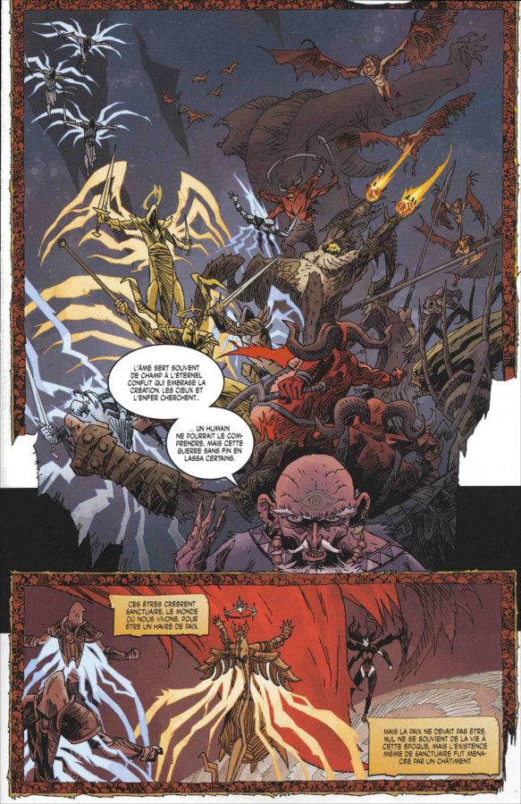 Page 1 du comics Diablo 3 : L'épée de Justice
