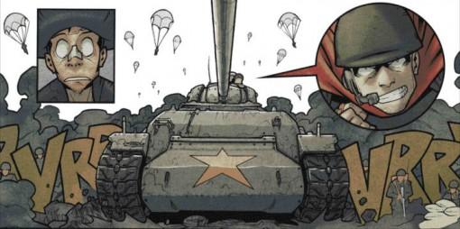 Tank conduit par Alexandre le Grand dans le jeu qui sert à savoir qui est l'envoyé des Dieux
