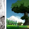 Même en noir et blanc, on voit les dessins en couleur à cause de la série