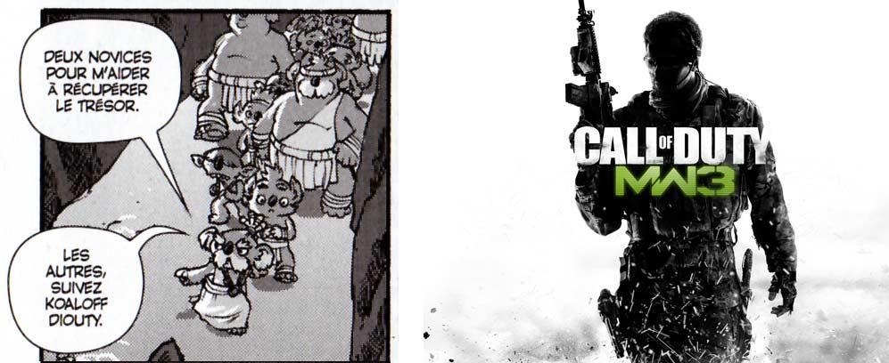 Koaloff Diouty en allusion au jeu vidéo Call of Duty.