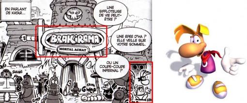 on peut voir le personnage de jeu vidéo Rayman