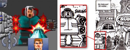 en bas à gauche on peut voir le Boss à Wolfenstein 3D