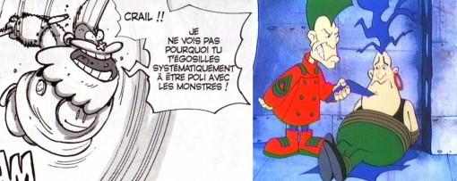 la coupe de cheveux punk du roi de Bonta est un clin d'œil à Seskapil tiré du dessin animé Les Mondes Engloutis