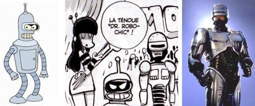 Ejipe est déguisé en Bender de Futurama, Arty est en Robocop