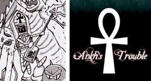 le monstre évoque le groupe de musique  Ankh's Trouble