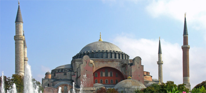 Source : http://commons.wikimedia.org/wiki/File:Turkey-3019_-_Hagia_Sophia_(2216460729).jpg (Dennis Jarvis from Halifax, Canada)
