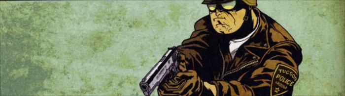 Image de l'histoire de Run où un policier se lance à la poursuite d'un tueur (doggy bags #1 )