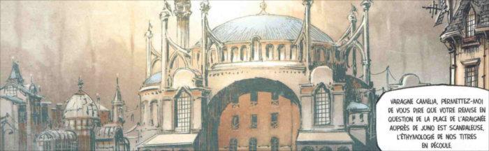 Cathédrale Sainte Sophie a inspiré ce bâtiment de Funérailles - T1 : Fortunate Sons