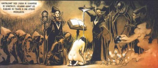 Après la naissance de Scipio, Luciane s'élève dans la hiérarchie de l'église de l'araignée