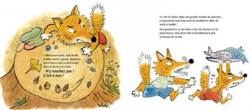 Page 8 / 9 du livre pour enfant Jiroro le renard roublard