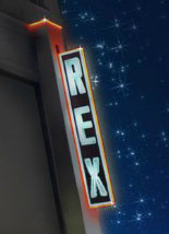 Panneau d'affichage du cinéma Grand Rex à Paris