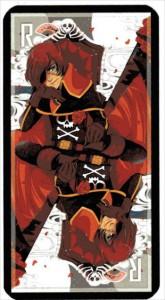 Arcane mineure du taropolis avec Albator (reprise du tarot de Marseille avec des images geeks)