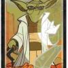 Arcane majeure du taropolis avec Yoda de Star Wars (reprise du tarot de Marseille avec des images geeks)