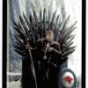 Arcane majeure du taropolis avec Stark du trone de fer (reprise du tarot de Marseille avec des images geeks)