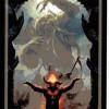 Arcane majeure du taropolis avec le Diable (reprise du tarot de Marseille avec des images geeks)