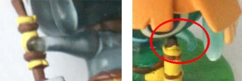 la main est bien collée au manche du marteau contrairement à la précédente figurine dont la main ne le touchait même pas.