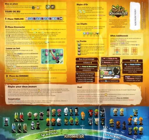 règles du Mini plateau de jeu - Krosmaster (Wakfu - Dofus)