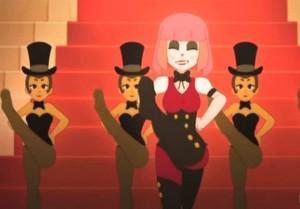 Les costumes des danseuses font référence aux Années folles et à la Belle époque