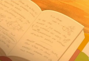 Kerubim cherche dans le livre la solution de l'énigme