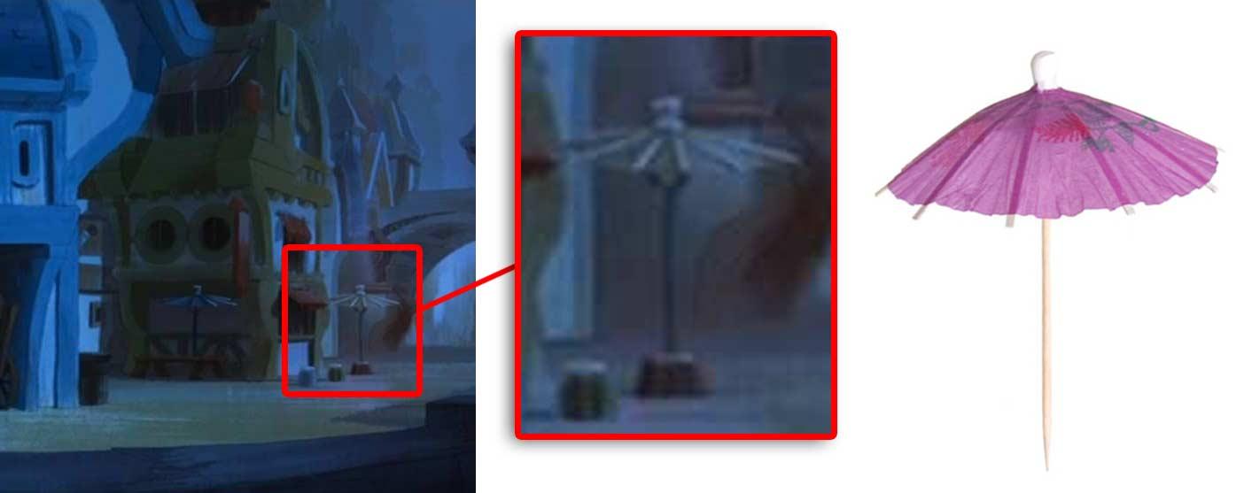 Les parasols ont le même design que les minis parasols qu'on met dans les cocktails.