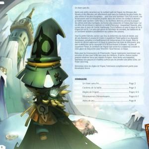 Page 2 du livret des règles de Krosmaster Arena - Frigost (Add-On)