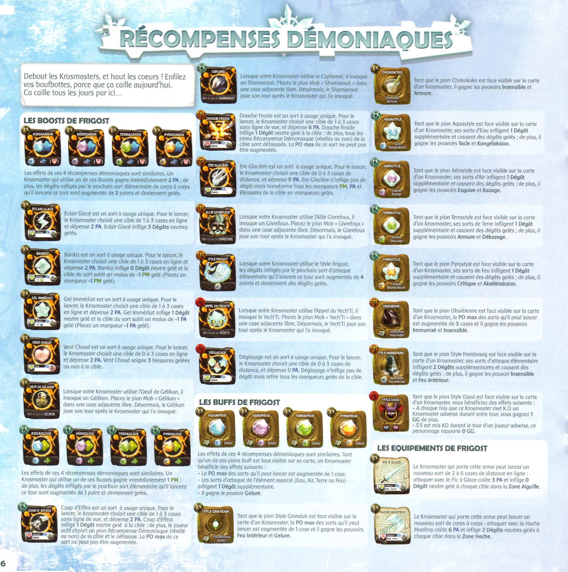 Page 6 du livret des règles de Krosmaster Arena - Frigost (Add-On)
