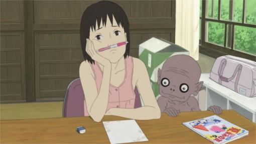 Momo cherche l'inspiration pour une lettre à son père