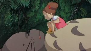 Mei réveille Totoro