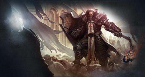 Artwork d'un croisé, nouvelle classe de l'extension Reaper of Souls de Diablo 3