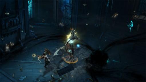 Combat entre un croisé et un nouveau boss de l'extension Reaper of Souls